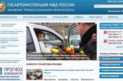 Получение информации о правах на сайте ГИБДД